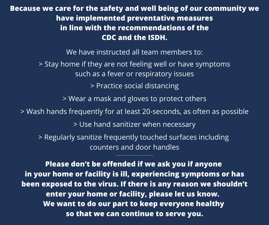 COVID-19, CDC, response, water treatment, we are open