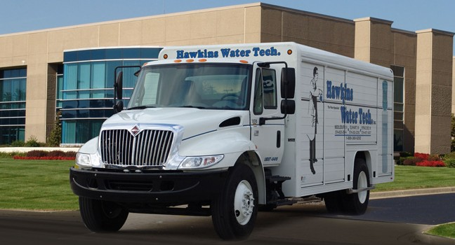 Hawkins Bottled Water Truck